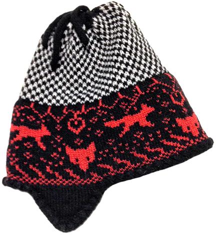 Fox Black/Rust Hat With Ear Flaps web