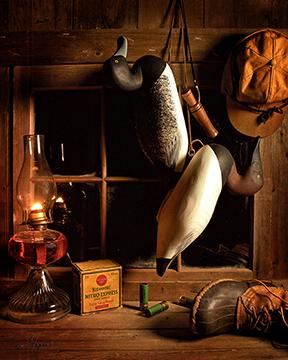 Night Light D'coy Shop C Bryan Blue Bill & Canvasback Drakes-4x5-web